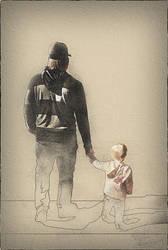 Padre e Bambina by DanielMurrayART