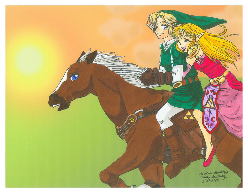 Zelda: Sunset Ride by Ryoko-and-Yami