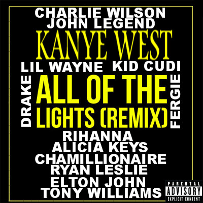Kanye West All Of The Lights Remix Album Cover by ZerJer97 on DeviantArt