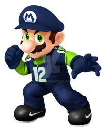 Seattle Seahawks Super Mario