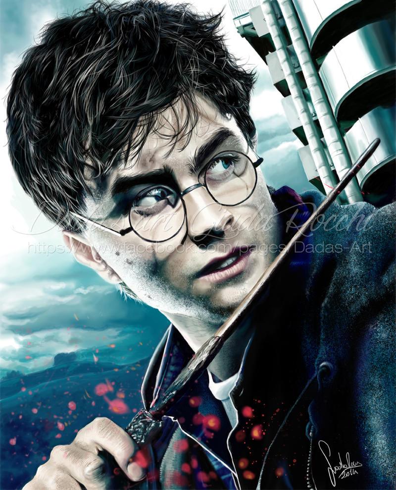 Harry Potter portrait by dadachan87