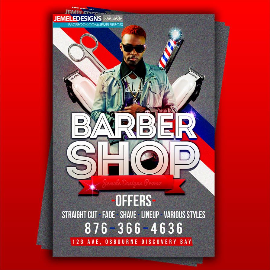 Barber Shop Flyer by jemeleiizboss on DeviantArt