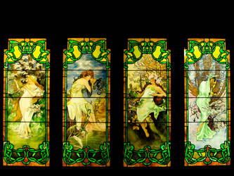 The Muses of Mucha by TrollKidsStock