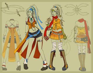 Rikku New Dress Spheres by Shinou