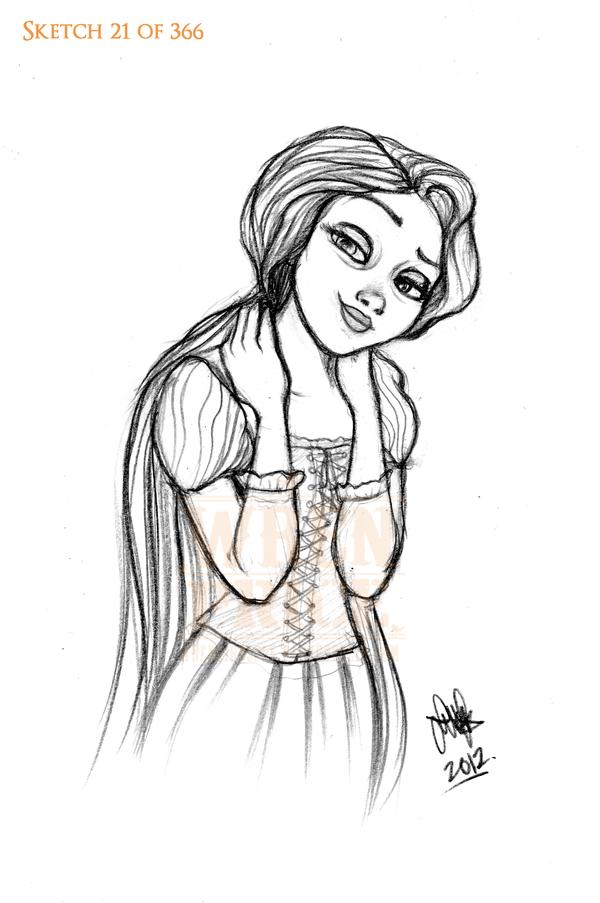 Too Cool Rapunzel by Wynta-Illustrations