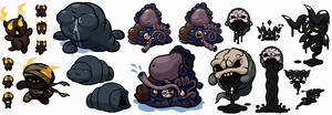 Binding of Isaac Boss Concepts (Sprite Collection)