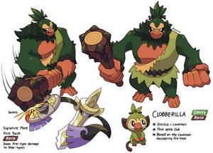 Grookey Evolution Concept - Clobberilla