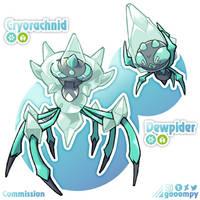 Commission: Dewpider and Cryorachnid