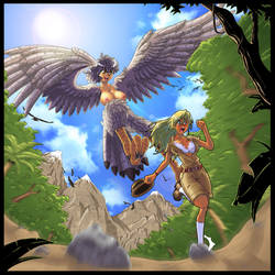 Harpy hunting by gamera1985