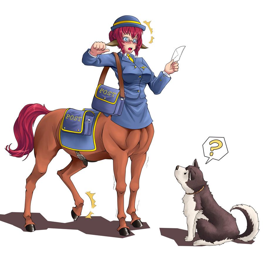 Centauress Postwoman by gamera1985
