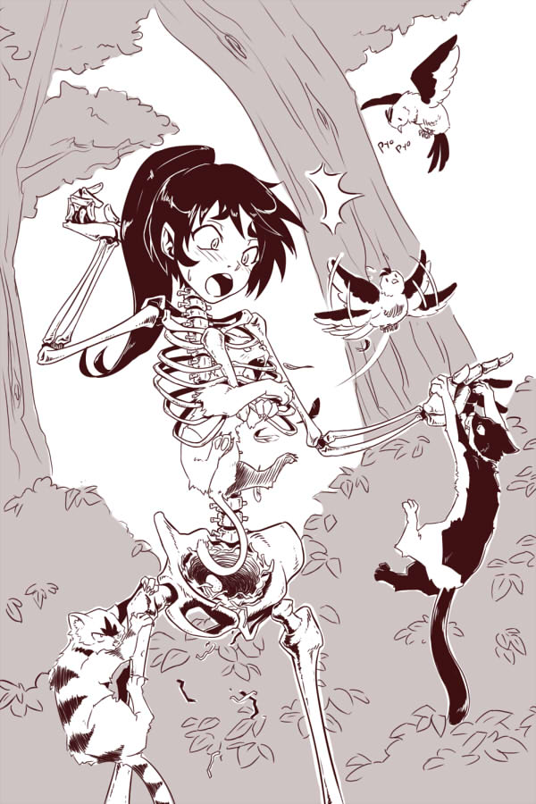 Skeleton Girl by gamera1985