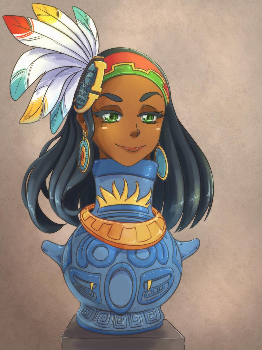 Aztec Potgirl by gamera1985