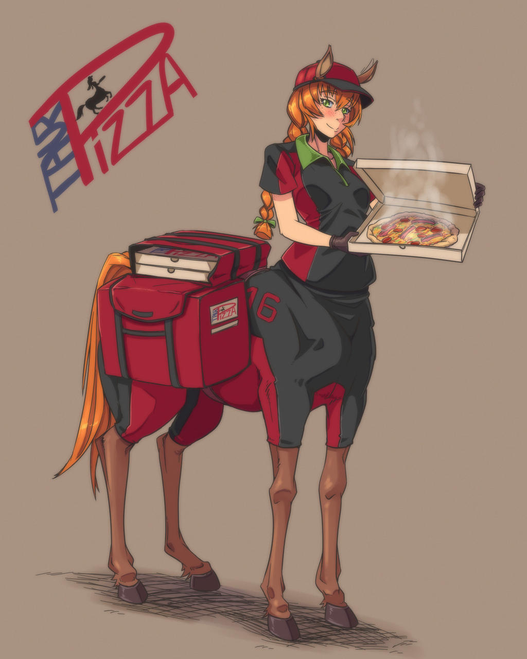 TaurPizza Delivery Girl by gamera1985