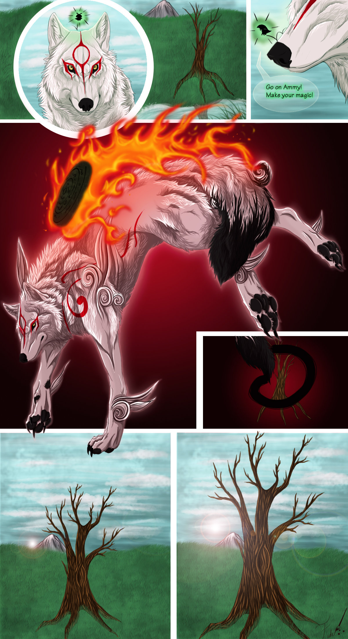 Okami Comic 1.  ~ Power of the sun by FudeWolffy