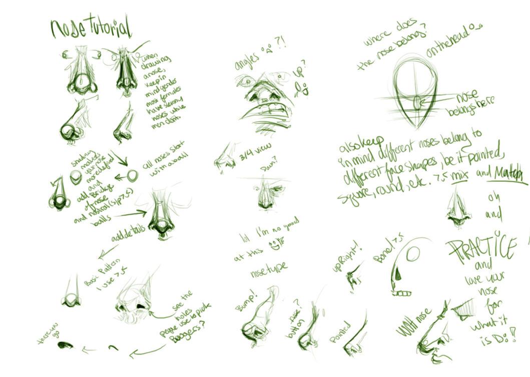 doodle nose tutorial by doop on deviantart