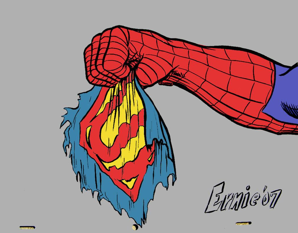 Superman vs. spider-man by Ernimator on DeviantArt