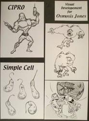 Visual Developement Osmosis Jones by Ernimator