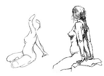 figure Drawing with sharpie 3 by Ernimator