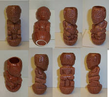 Tangaroan style Tiki ceramic shot glass