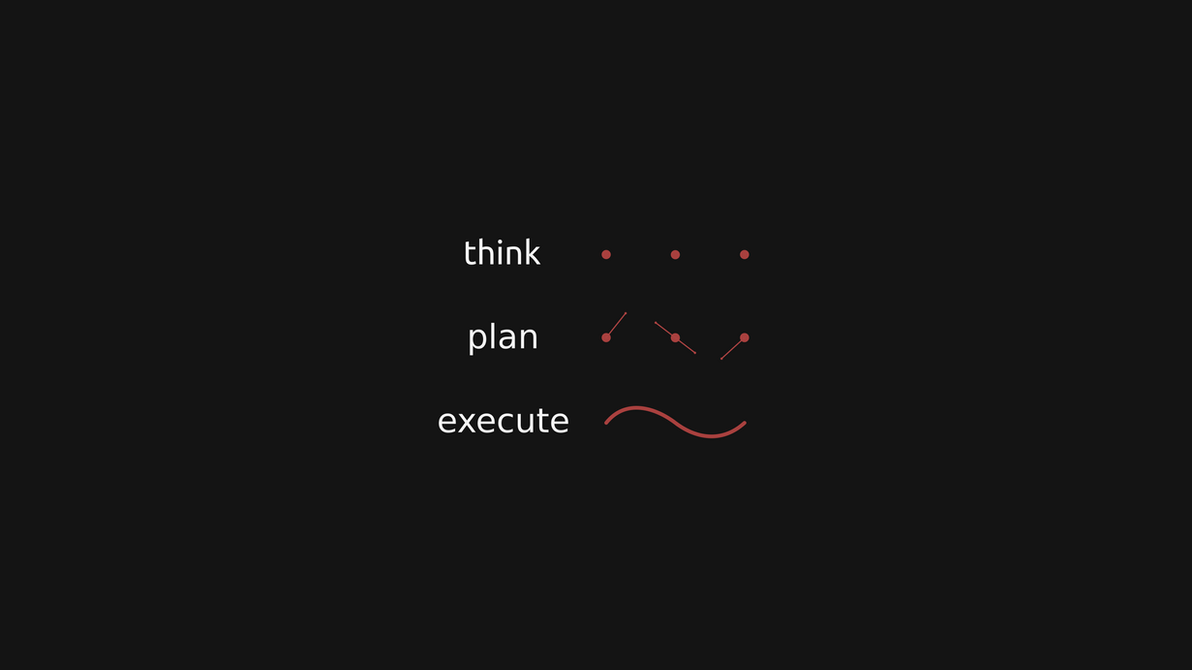'think, plan, execute' redraw by CyanJDroid on DeviantArt