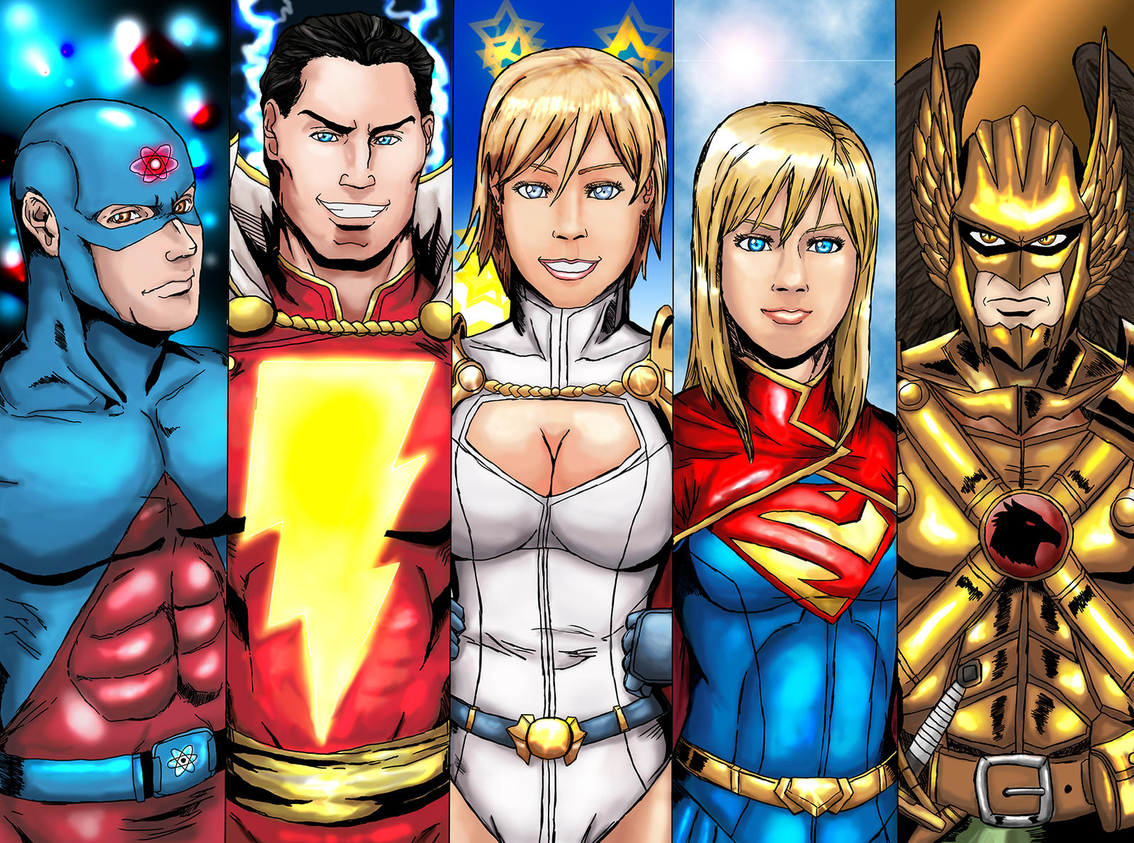 Justice League Group 3 by cpuhuman