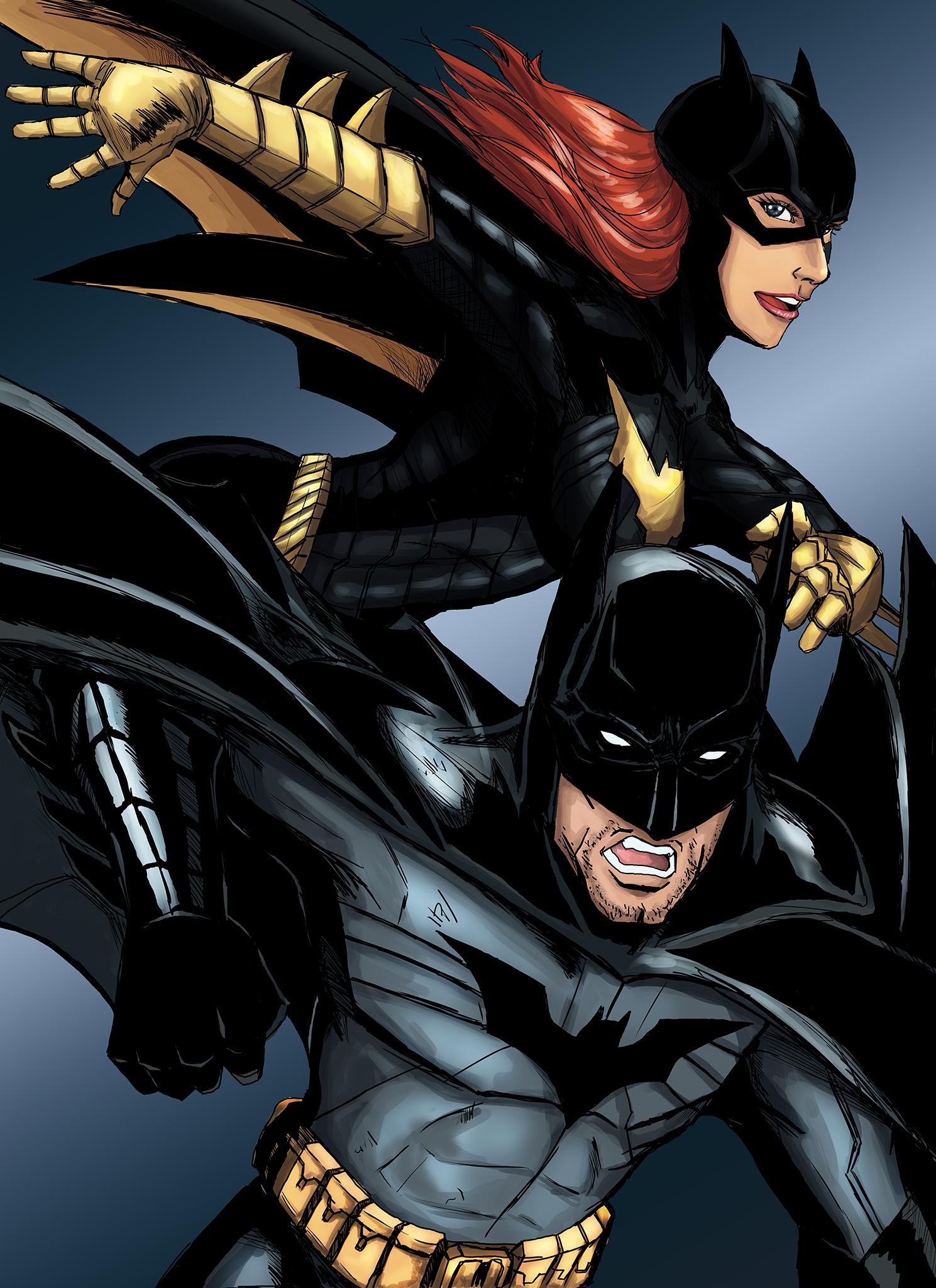 Batman/Batgirl by cpuhuman on DeviantArt