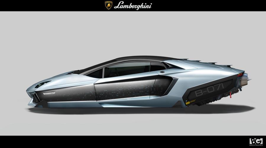 lamborghini hover car by barongraphics
