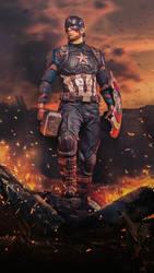 Captain America-Avengers: Endgame v2 by BaronGraphics