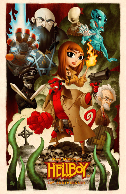 Hellboy 20th Anniversary by Erich0823