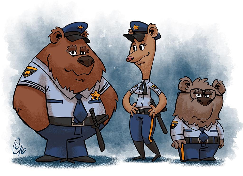 Bear Cops by Erich0823