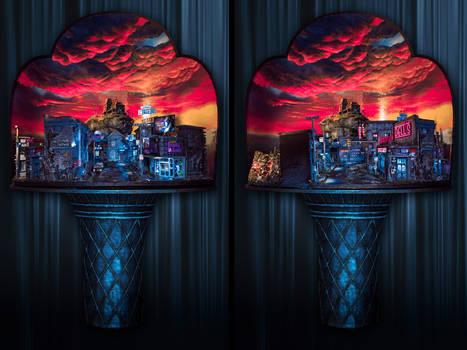 Nightfall in the Lot - Diorama 2019
