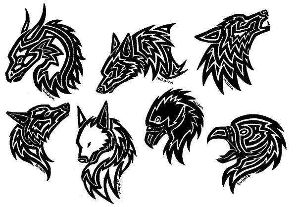 tattoos eagle wolf dragon by metaselene on deviantart. Black Bedroom Furniture Sets. Home Design Ideas