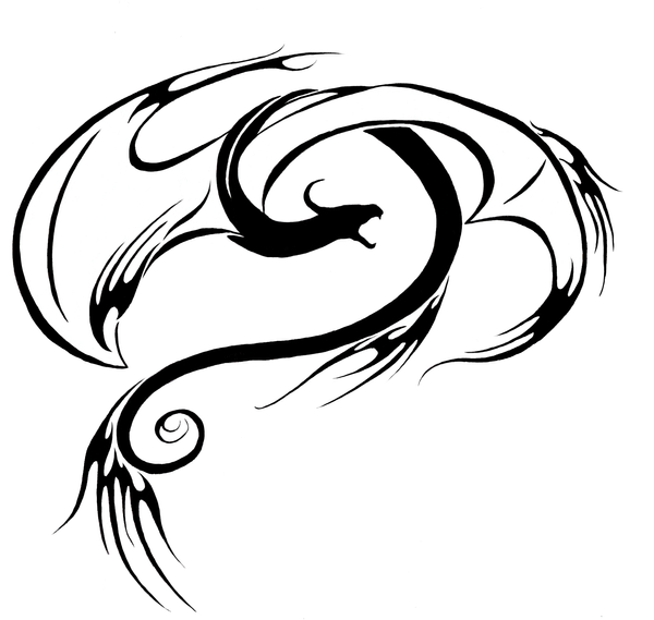 Swirly Fire Dragon Tattoo By TheMetasepia On DeviantArt