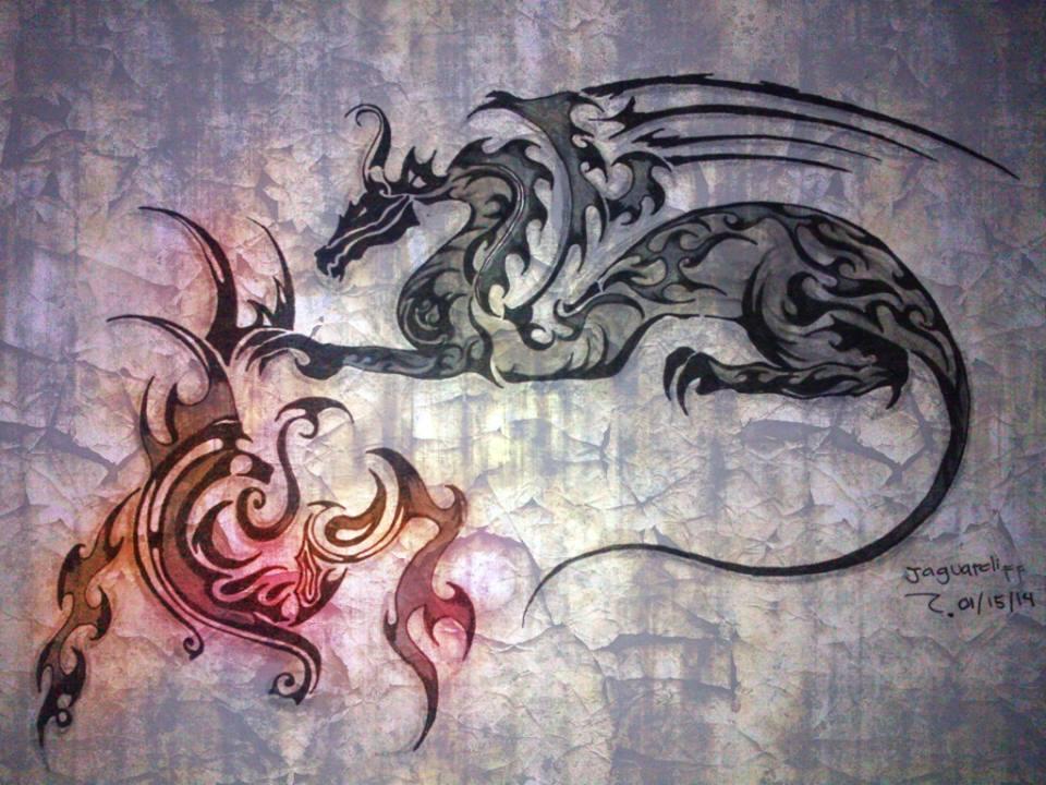 E dragons - fire by jaguarcliff