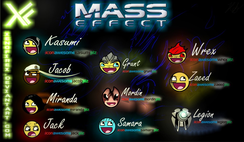 Mass Effect Awesome Characters -Set 2- by XenofireX