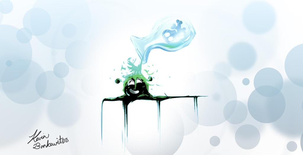 A Splash of Green by kiffKewitzz