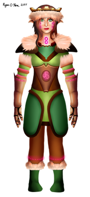 Elf Protagonist Concept Art