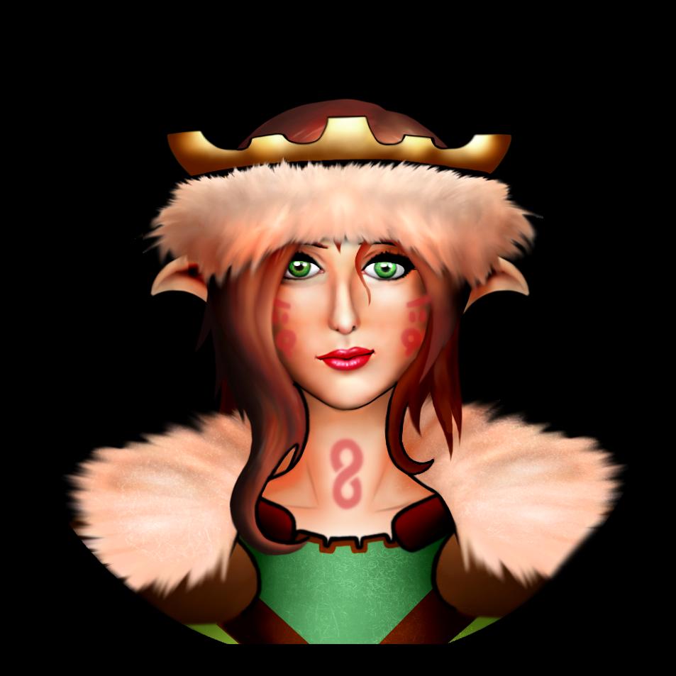 Viking Girl Character Sprite