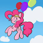 Cartoonishly Pink Horse by PrismNight