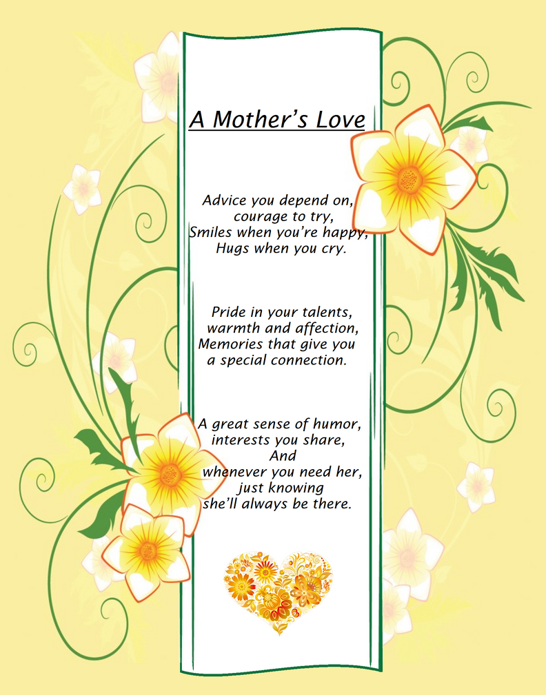 Poem A Mothers Love By Magangel On Deviantart