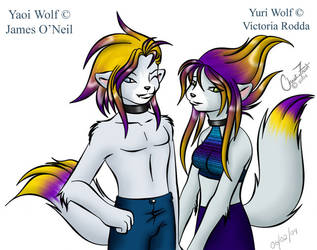 Yuri and Yaoi Wolf by Feathers-n-Fluff