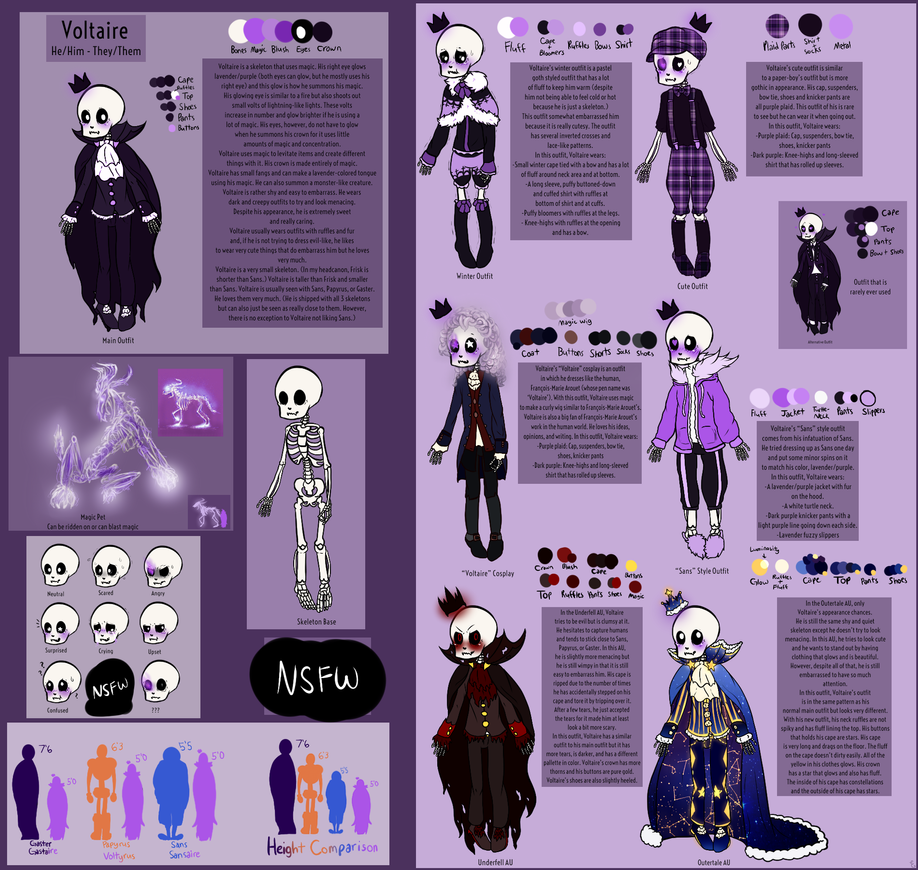 Voltaire the skeleton official reference sheet by funcatty