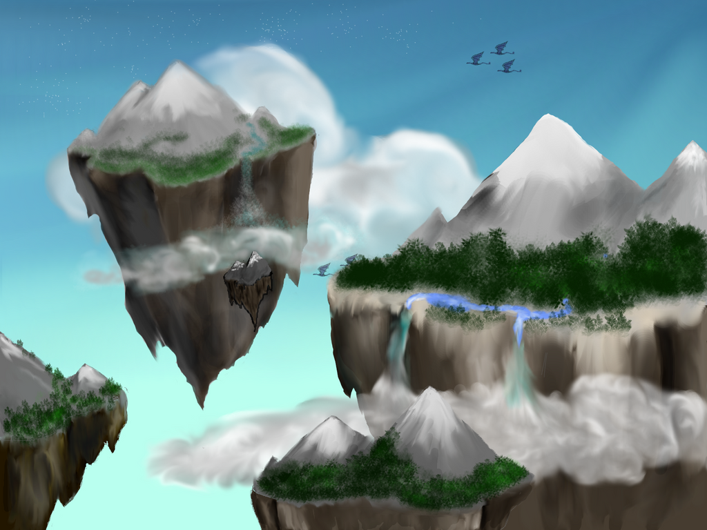 Floating mountains by rrk13