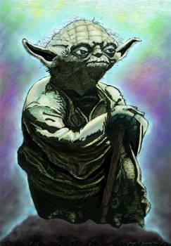 Yoda Sketch Coloured