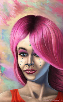 Funky Pink Hair Dichotomy