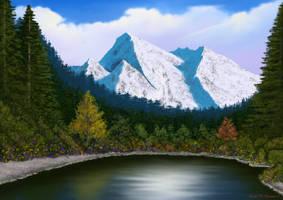 Happy Little Mountain Lake