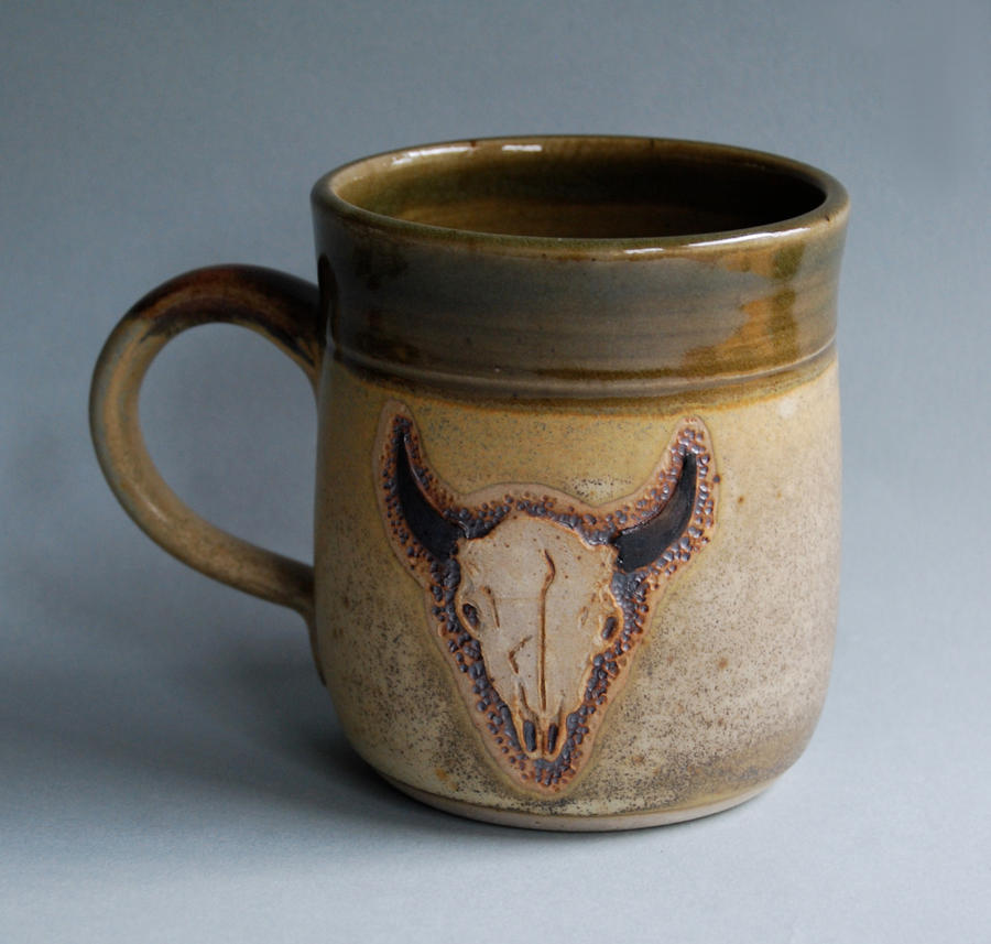 Buffalo Skull Mug by ForeverTuesday