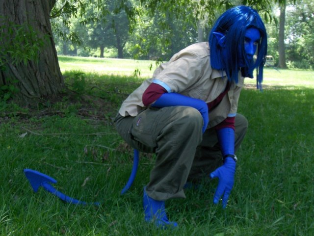 Nightcrawler crouching by KittyCanuck