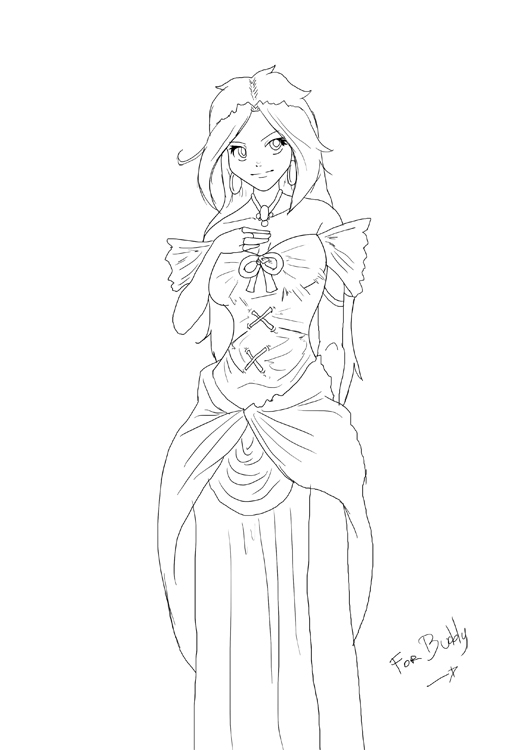 Line Art Group : Princess lineart by number seventeen on deviantart