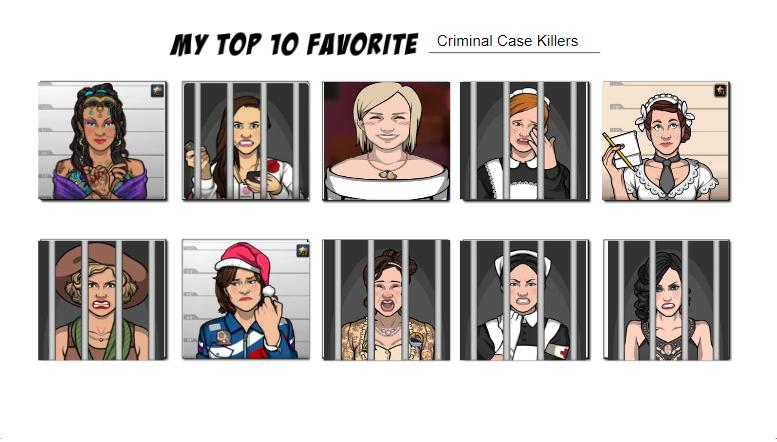 Top Ten Criminal Case Killers By Alliepeachfan On Deviantart